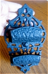 Click here to enlarge image and see more about item match90521: Vintage Ornate Cast Iron Matchsafe