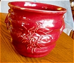 Click here to enlarge image and see more about item mccoy10609: McCoy Pottery Jardinaire Burgandy