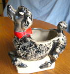 Click here to enlarge image and see more about item mccoy50909: McCoy Pottery Poodle Planter