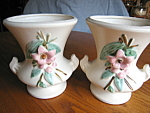 Click here to enlarge image and see more about item mccoy70613a: McCoy Blossomtime Vase Pair
