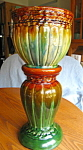 Click here to enlarge image and see more about item mccoy807: McCoy Vintage Jardiniere and Pedestal