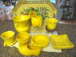 Click to view larger image of Vintage McCoy Yellow Pot and Saucer (Image6)