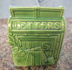 Click to view larger image of McCoy Pottery Mailbox Wallpocket (Image1)