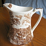 Click here to enlarge image and see more about item meakin100108: Alfred Meakin Staffordshire Pitcher