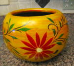 Click here to enlarge image and see more about item mexicanpottery1014: Huge Vintage Mexican Planter
