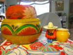 Click here to enlarge image and see more about item mexipottery1013: Vintage Mexican Pottery Assortment