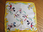 Click here to enlarge image and see more about item mickey92508: Mickey Mouse Hanky Vintage