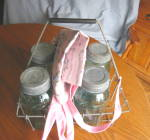 Milk Carrier, Fruit Jars, Apron