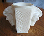 Click here to enlarge image and see more about item milkglass110808: Art Deco Milk Glass