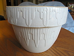 Click here to enlarge image and see more about item milkpan110808: Stoneware Antique Bowl
