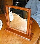 Click here to enlarge image and see more about item mirror20624: Vintage Maple Dresser Top Mirror