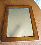 Click here to enlarge image and see more about item mirror9308: Vintage Mission Oak Mirror