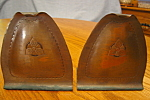 Click here to enlarge image and see more about item mission112506: Craftsman Studios Hammered Copper Bookends