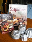 Click to view larger image of Vintage Molds, Soapmaker and Jello Book (Image1)