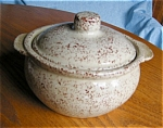 Click here to enlarge image and see more about item monm30403: Monmouth Spatterware Casserole Dish