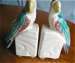 Click here to enlarge image and see more about item morton20506: Vintage Morton Pottery Planter Lovebird Bookends