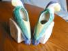 Click to view larger image of Vintage Morton Pottery Planter Lovebird Bookends (Image4)