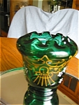 Click to view larger image of Victorian Enameled Blown Glass Vase (Image1)
