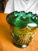 Click to view larger image of Victorian Enameled Blown Glass Vase (Image2)