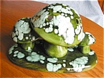Click here to enlarge image and see more about item mush40420: Vintage Mushroom Flower Frog