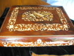 Click here to enlarge image and see more about item musicbox90509a: Huge Italian Marquetry Music Box
