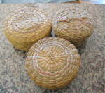 Click here to enlarge image and see more about item navbaskets5014: Vintage Native American Baskets
