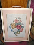 Click here to enlarge image and see more about item needl12031: Vintage Framed Needlepoint Picture