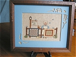 Click here to enlarge image and see more about item needle10031: Framed Needlepoint  - Quilts For Sale