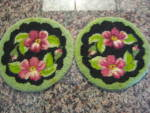 Vintage Needlepoint Wool Doilies