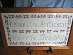 Click here to enlarge image and see more about item needlepoint10071: Framed Needlepoint Sign