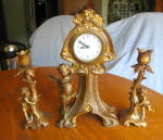 Click to view larger image of Antique New Haven Falmouth Clock Set (Image7)