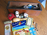 Click here to enlarge image and see more about item notions10713: Singer Sewing Drawer and Notions