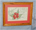 Click here to enlarge image and see more about item oart01031: Three Artist Signed Framed Batiks