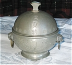 Click here to enlarge image and see more about item obut01031: Antique Pewter Butter Cooler