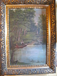 Click here to enlarge image and see more about item oil20726: Antique Oil Painting