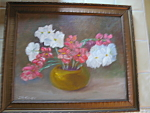 Click to view larger image of Vintage J. Medjesky Oil Painting (Image1)