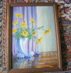 Click to view larger image of Signed Vintage Oil Painting (Image4)