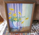 Click to view larger image of Signed Vintage Oil Painting (Image5)
