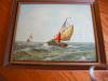 Click to view larger image of Three Holland Oil Paintings - Sailing Ships (Image3)