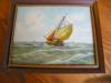 Click to view larger image of Three Holland Oil Paintings - Sailing Ships (Image4)