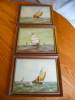 Click to view larger image of Three Holland Oil Paintings - Sailing Ships (Image5)