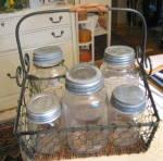Click to view larger image of Glass Vintage Jars Zinc Lids (Image7)