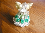 Click here to enlarge image and see more about item ornament30622: Vintage Beaded Angel Ornament