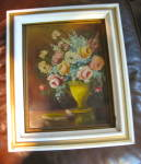 Click to view larger image of A. Walker Floral Painting Vintage (Image8)
