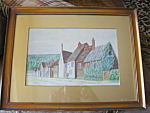 Click here to enlarge image and see more about item painting30834: Vintage Artist Signed Rural Scene