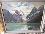 Click here to enlarge image and see more about item painting3091: F. Wisternigg Landscape Oil Painting