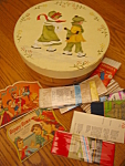 Click here to enlarge image and see more about item pantry09092a: Vintage Pantry Box and Sewing Notions
