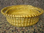 Click here to enlarge image and see more about item papago1014: Papago Basket Oval Tray Bowl