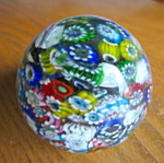 Click here to enlarge image and see more about item paperweight10867: Millefiori Glass Paperweight
