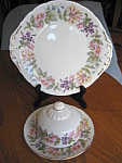 Click here to enlarge image and see more about item paragon40716: Paragon Butter Dish and Cake Tray